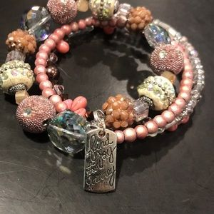 ONE OF A KIND MEMORY WIRE BRACELET